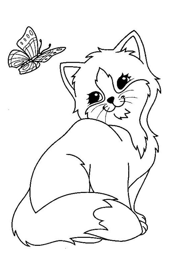 Coloring Pages Cat Coloring Page