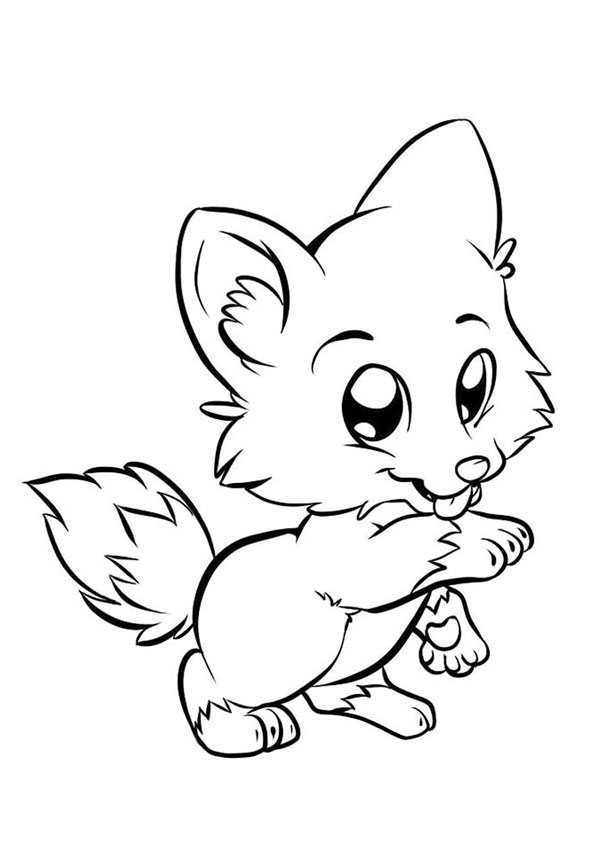 Coloring Pages Animated Baby Fox