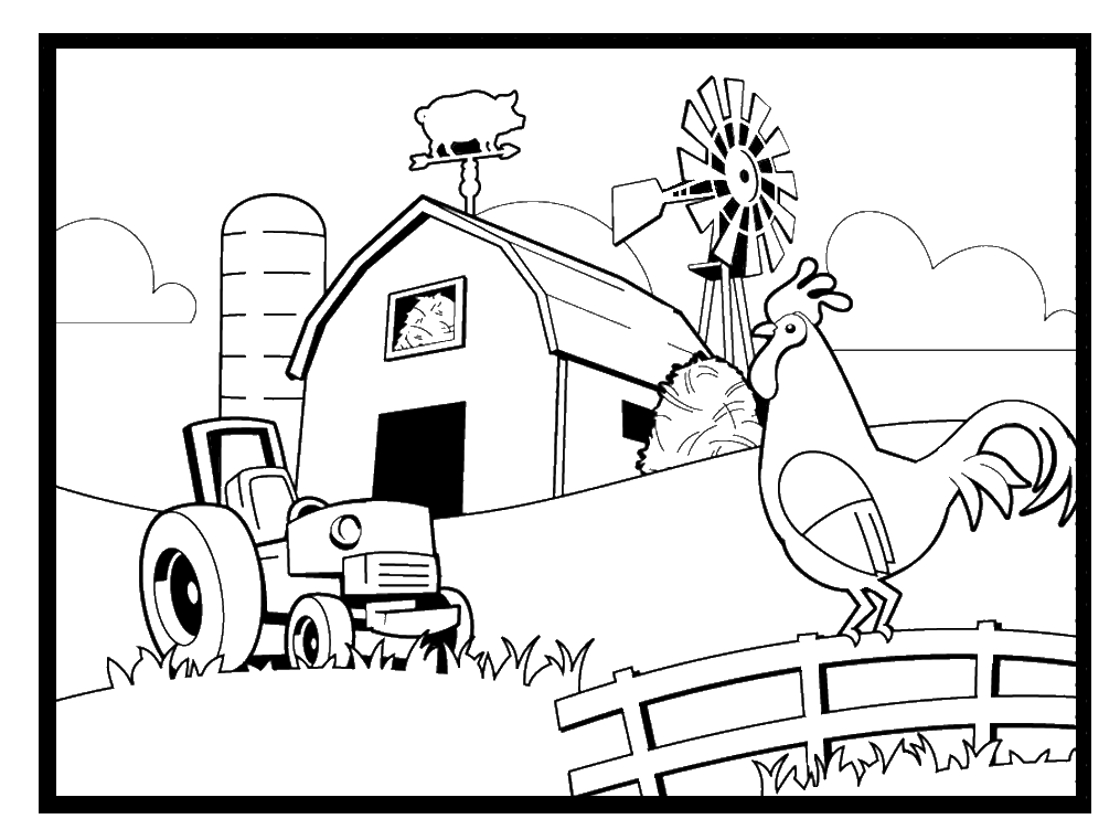 Coloring Pages Farmimal Coloring Book Pages