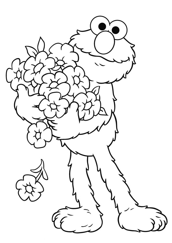 Coloring Pages Elmo Printable Coloring Pages
