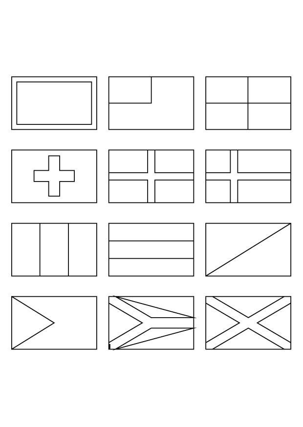 Coloring Pages Countries Flag Coloring Pages