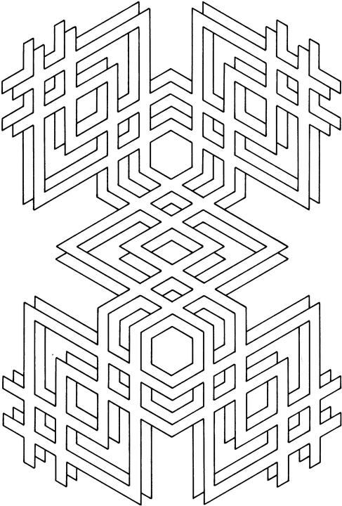 Coloring Pages Free Printable Geometric Coloring Pages