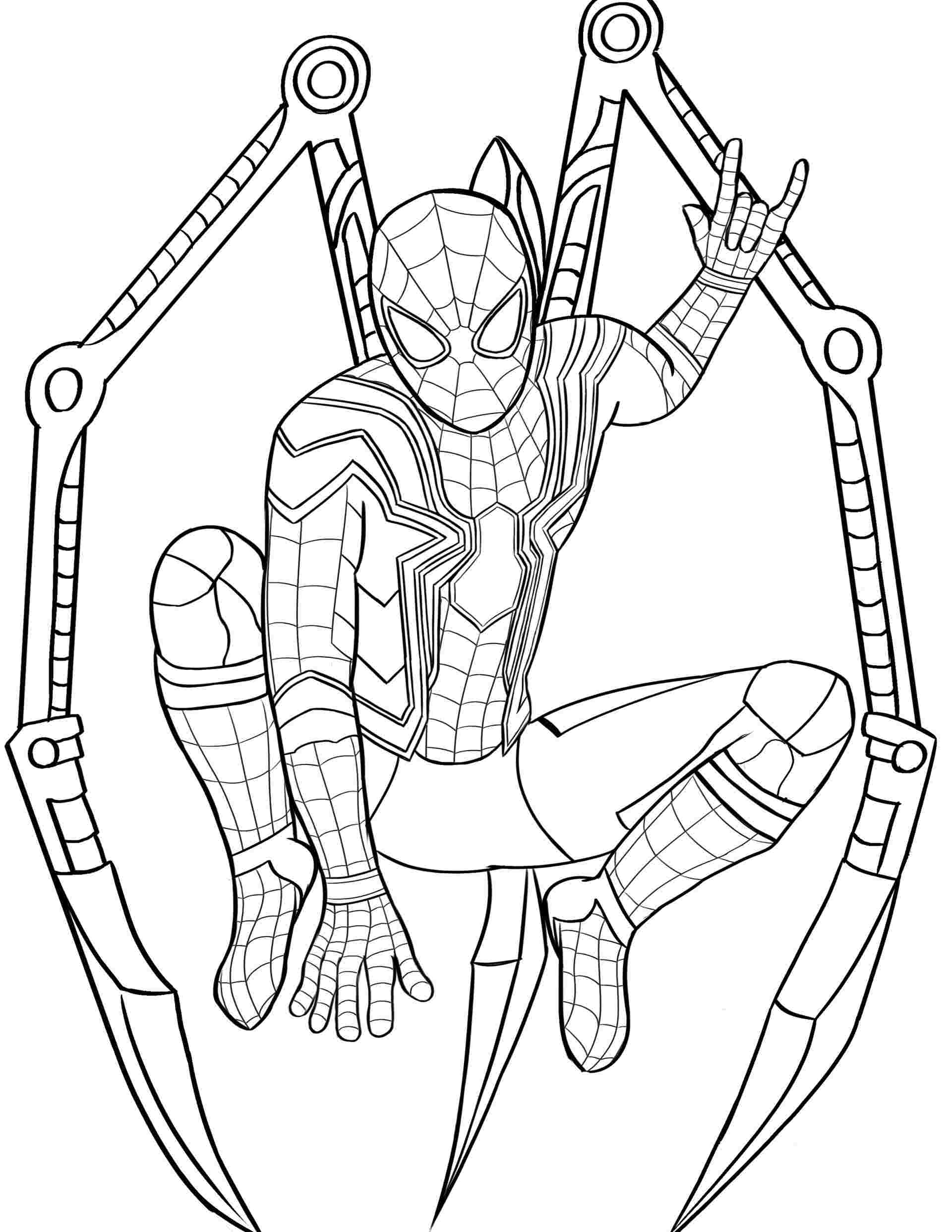 Coloring Pages | Iron Spider Coloringes Spiderman For Color