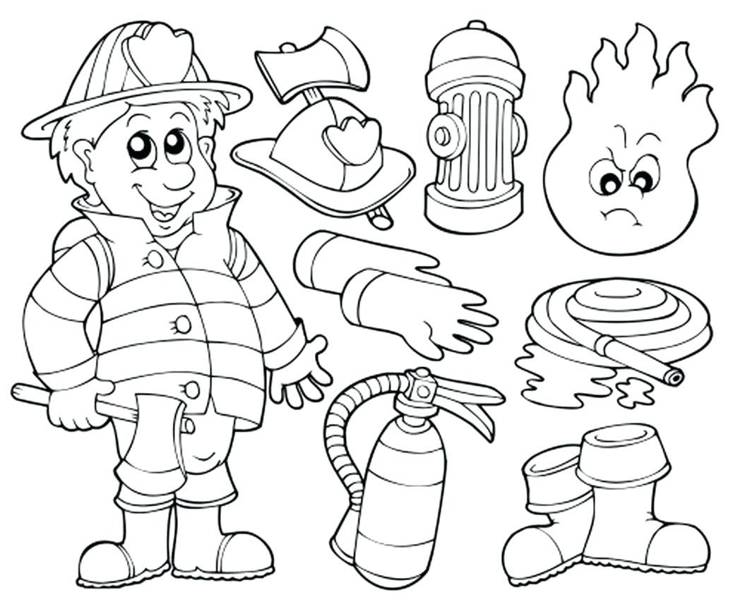 Coloring Pages Firefighter Coloring Pages Fireman