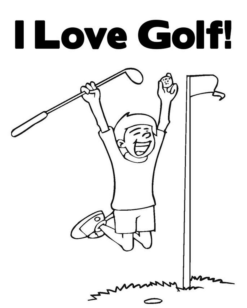 Coloring Pages I Love Golf Coloring Pages