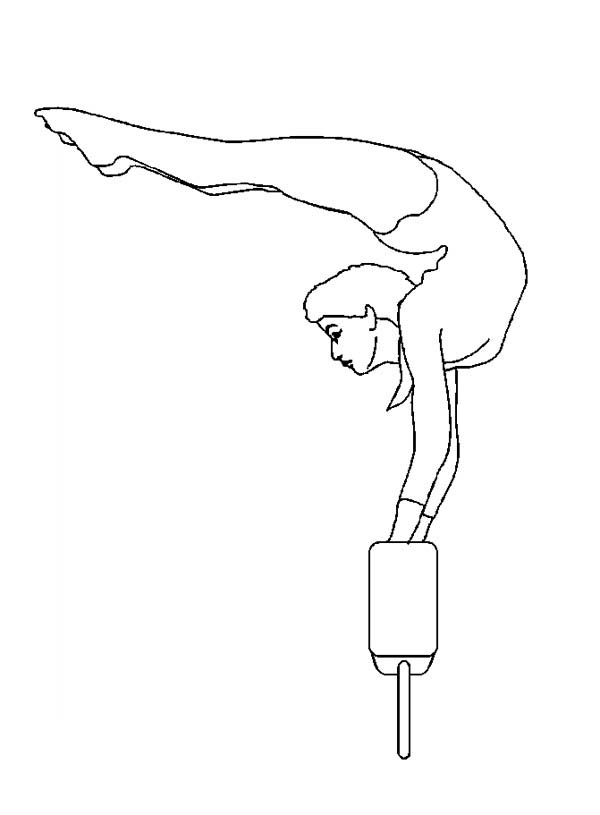 Coloring Pages Gymnastics Coloring Pages To Print