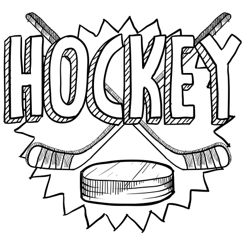 Coloring Pages Hockey Coloring Page