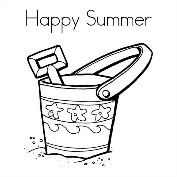 Coloring Pages Happy Summer Coloring Page