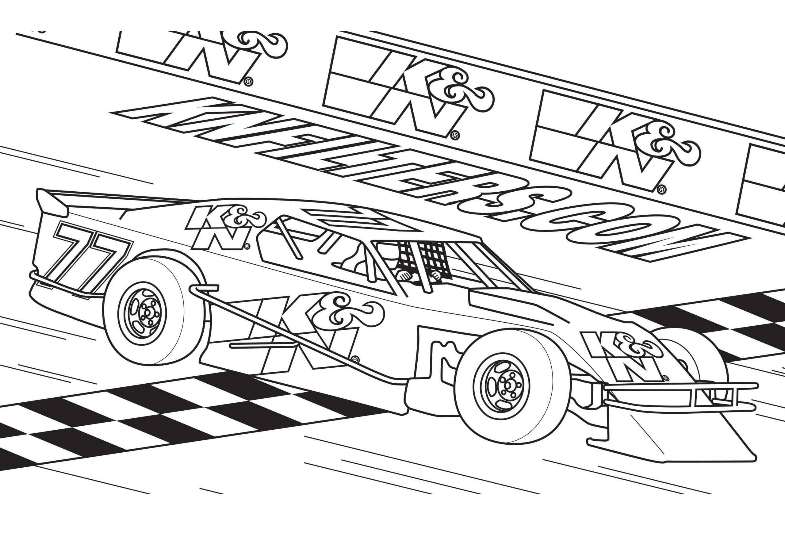 Coloring Pages Free Printable Race Car Coloring Pages Sprint For Kids Scaled