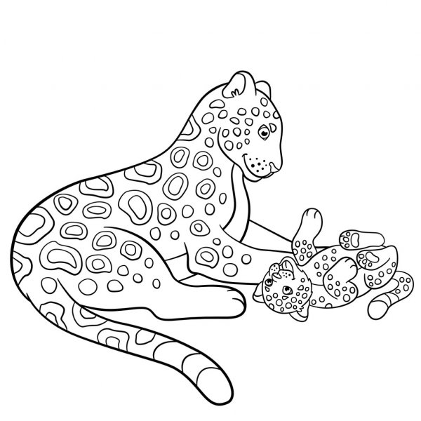 Coloring Pages Coloring Pages Mother Jaguar Printable