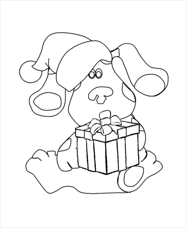 Coloring Pages Printable Cartoon Christmas Coloring Page