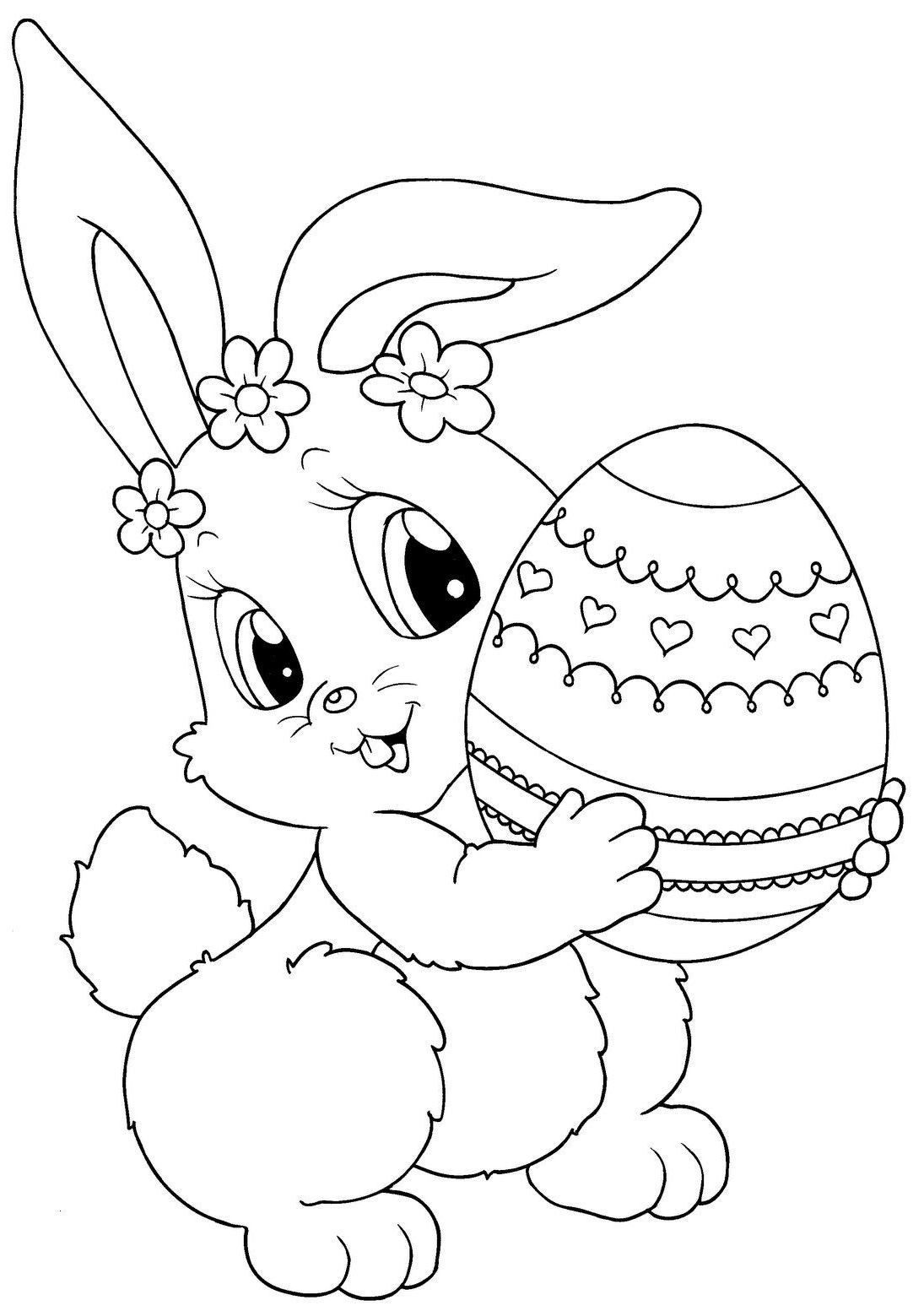 Coloring Pages   Easter Bunny Coloring