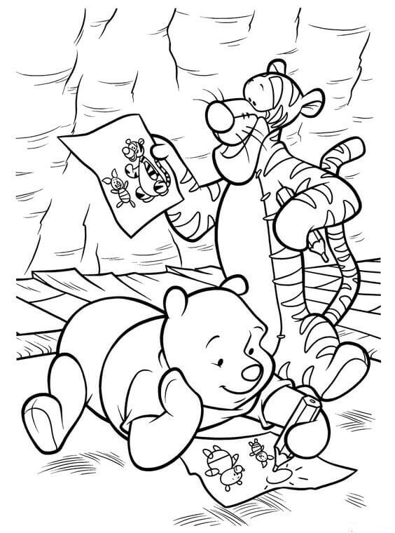 Coloring Pages Classic Winnie The Pooh Coloring Pages