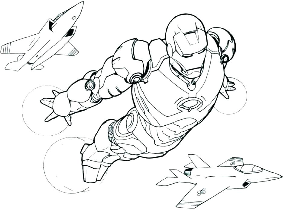 Coloring Pages Iron Man Coloring Pages Image
