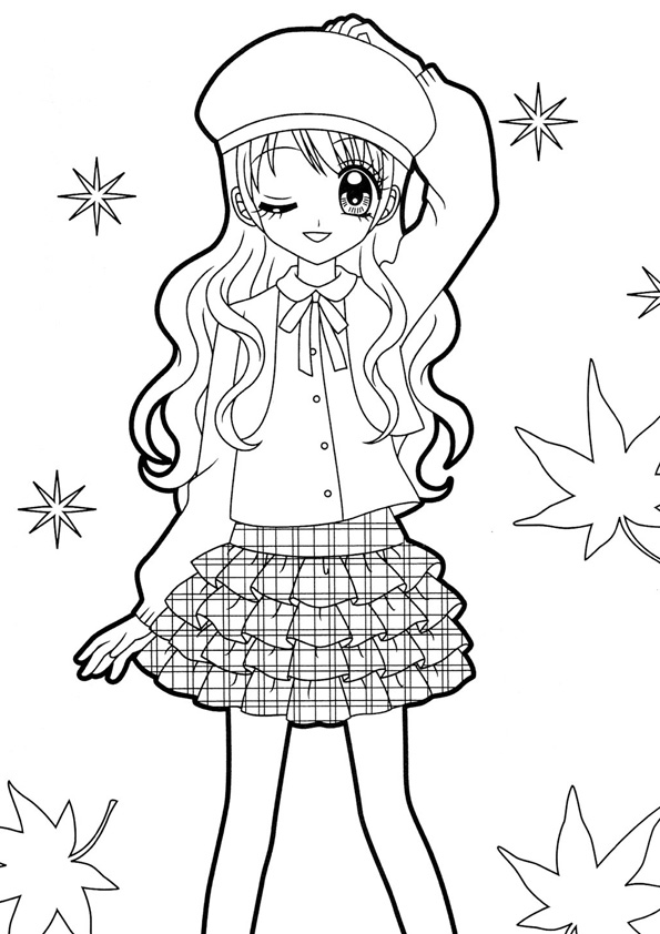 Coloring Pages Free Printable Anime Colorings For Kids