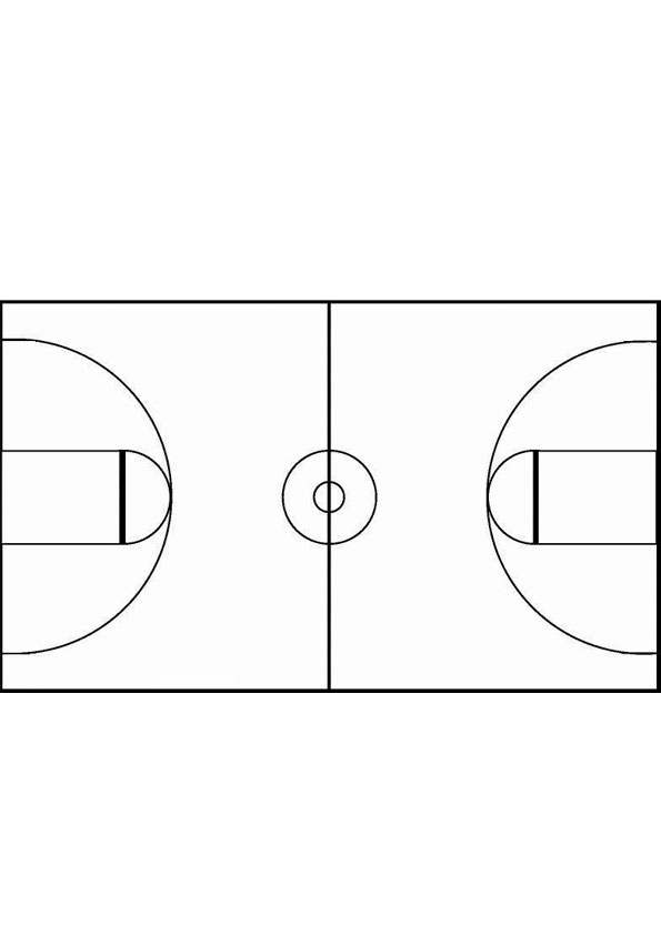 Coloring Pages   Basketball Court Coloring Page