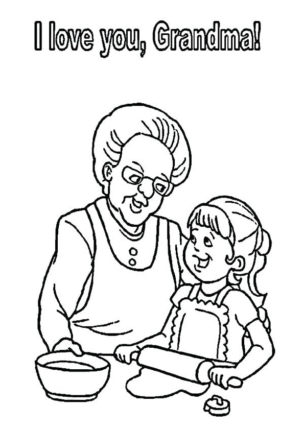 Coloring Pages Grandparents Day Coloring Pages