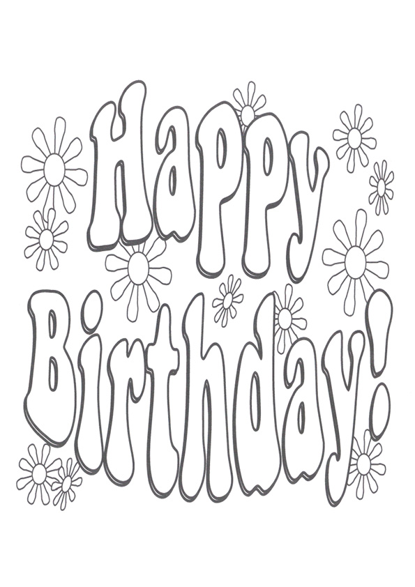 Coloring Pages Happy Birthday Coloring Pages