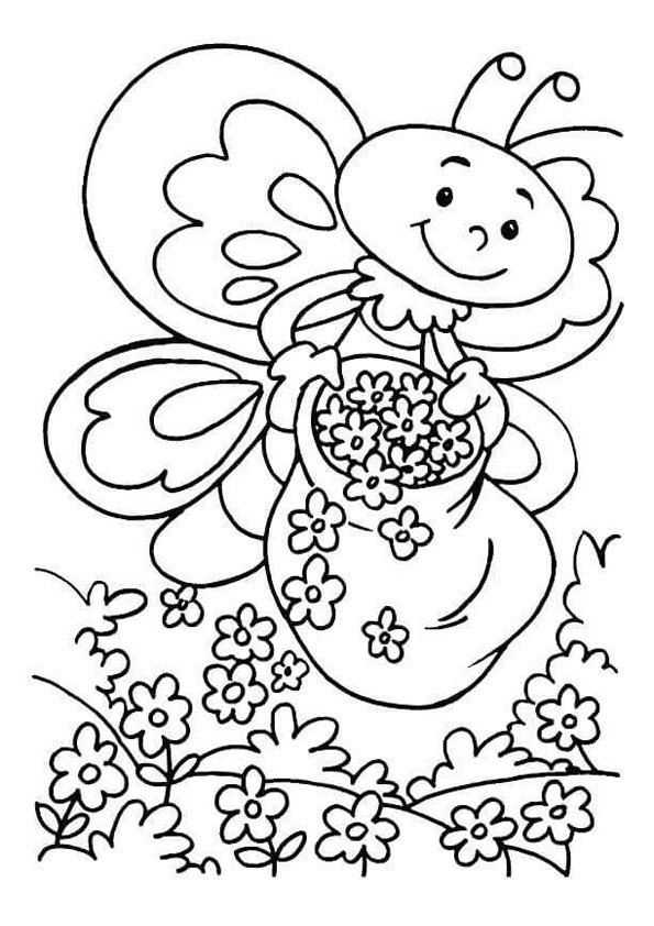 Coloring Pages Happy Spring Coloring Pages