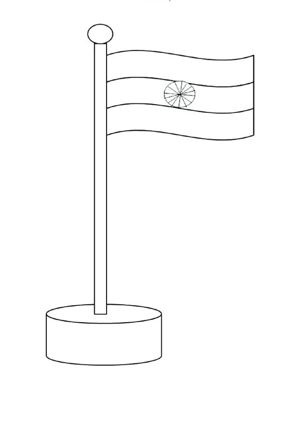 Coloring Pages Indian Flag Coloring Page