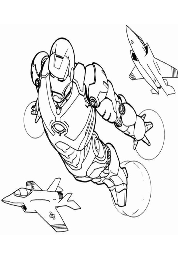 Coloring Pages Iron Man Coloring Page