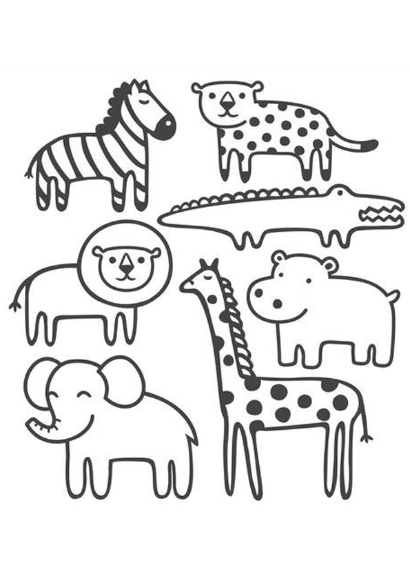 Free Animal Coloring Pages to Print for Kids - Get Coloring Pages | 842x595