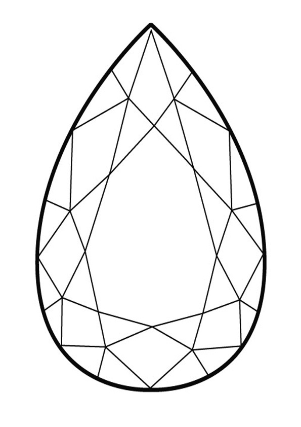 Coloring Pages Printable Diamond Coloring Page
