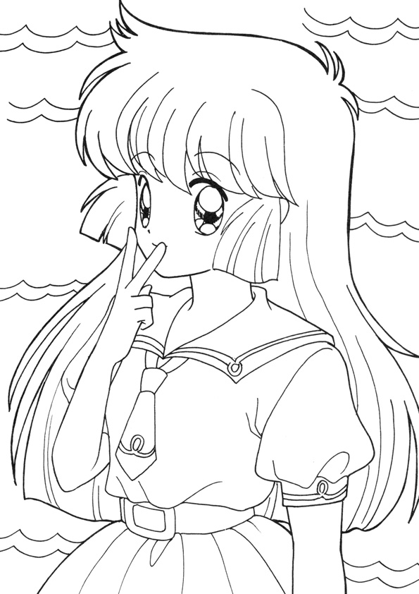 Coloring Pages Coloring Book Anime Online Pages Free