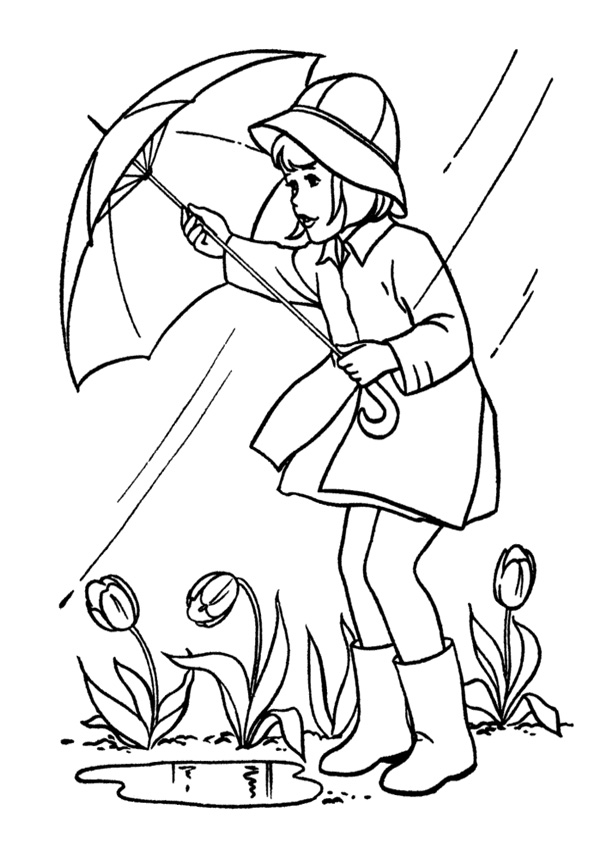 Coloring Pages Rainy Day Coloring Page