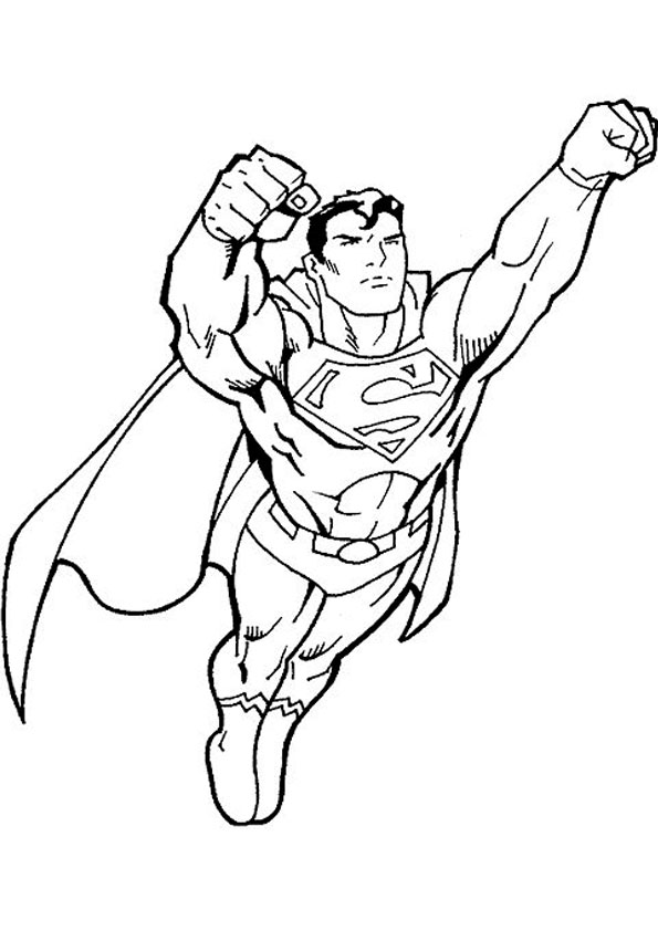 Coloring Pages Super Hero Flying Coloring Page