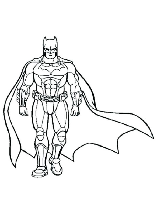Coloring Pages Printable Super Hero Coloring Sheet