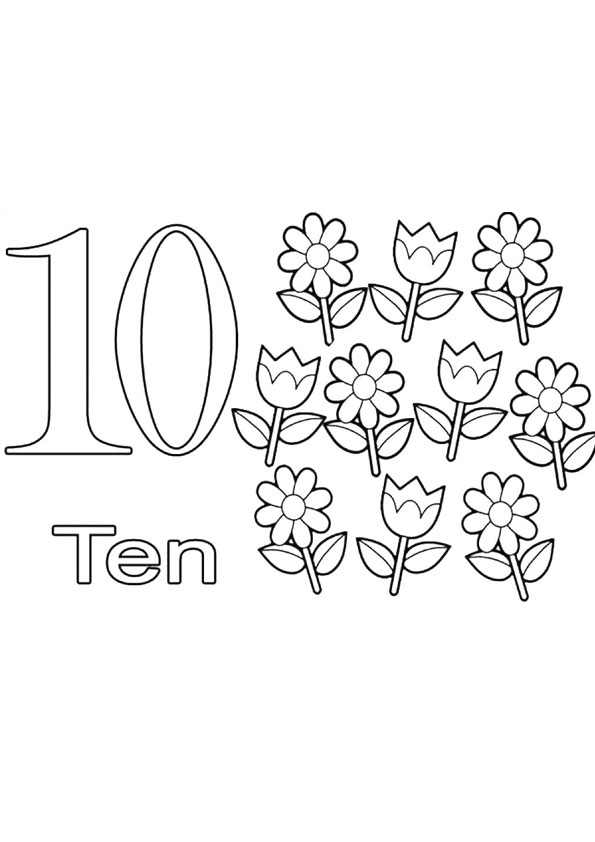 Coloring Pages Ten Coloring Page