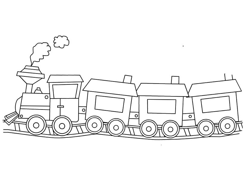 Coloring Pages Train Coloring Page For Kids