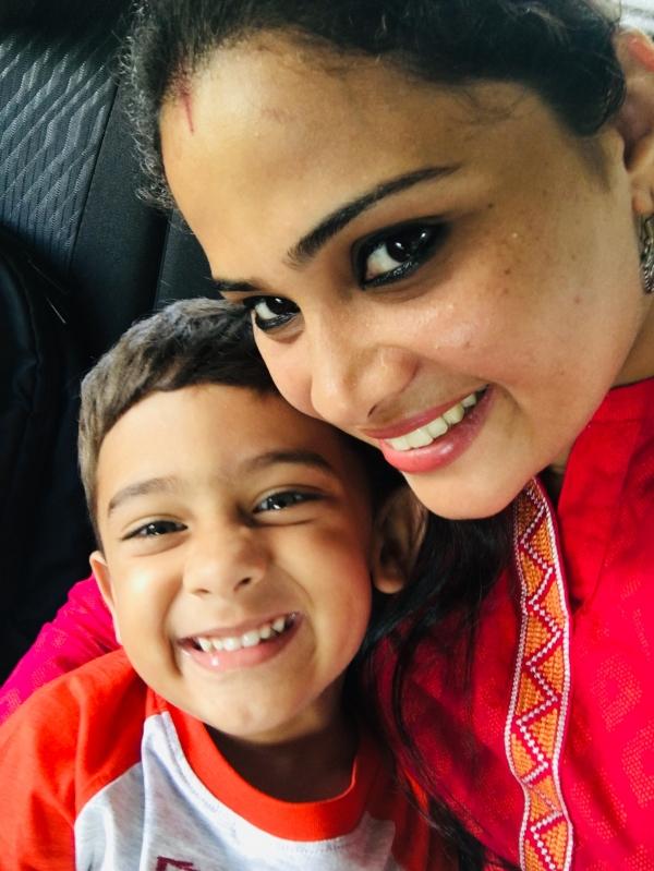 Deepthi (Mom)&Ashvith