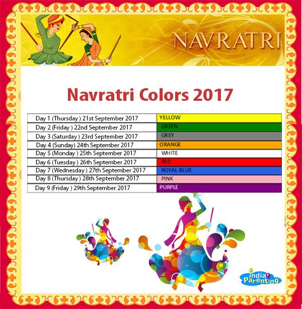 Navratri Dress Color Code 2018 My Blog