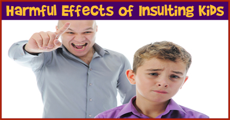 Effects of Insulting Kids in Front of Others